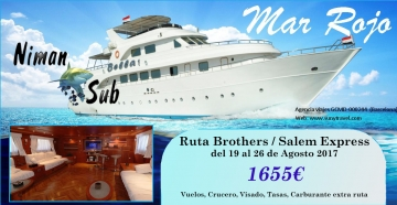 Viaje buceo Mar Rojo Brothers 2017
