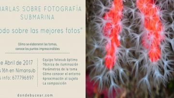 charla fotografía subacuática